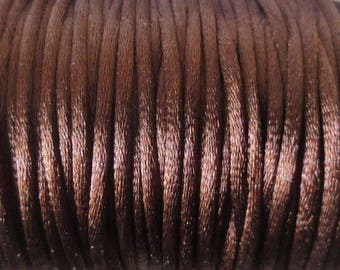 1 M x 2mm chocolate Nylon Rat tail