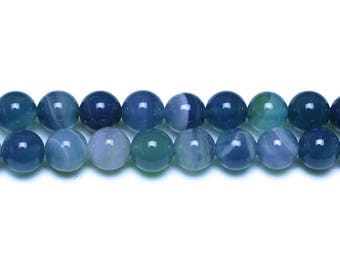 10 x beads 8mm TURQUOISE dyed natural Agate