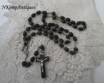 Black wooden rosary 1930's