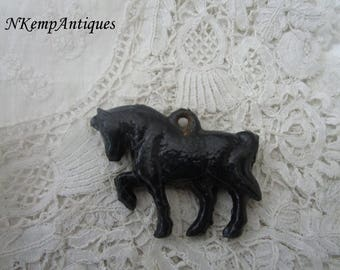 Antique horse pendant