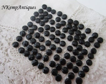 Antique french jet beads 1900 x 100