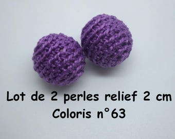 2 relief crochet color 63 beads