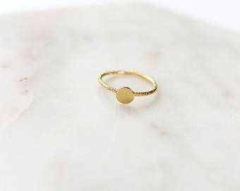 Mini round ring gold filled