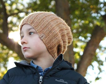 """Cool Knitting Pattern Hat """"Nash Slouchy Beanie"""" Snow Slouch, Boys patterns, boys hats"""