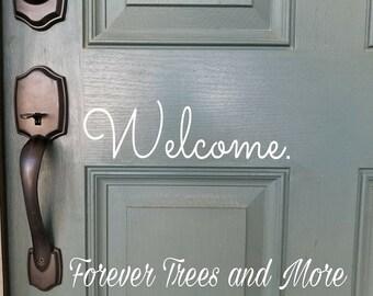 Front Door Decal - Welcome - Hello
