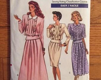 Vintage Vogue 1980s Dress Pattern