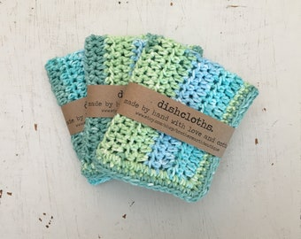 Crochet Dishcloths Washcloths, Crochet Washcloths, Dishcloths, Washcloths, Textured Dishcloths - READY TO SHIP