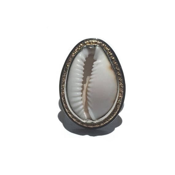 cowrie sunshine ring - made to order