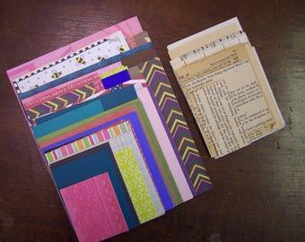 110+ pc. Assorted Scrapbook Paper Scrap Pack plus 20+ Vintage Scrap Papers*Destash*Paper Pack*Junk journal pack*