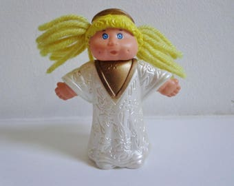 90s Cabbage Patch Kid Blonde Angel Girl Mini Toy Figure Doll Cake Topper Decoration, Retro 80s CPK