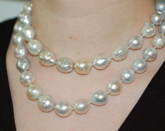 Asymmetrical South Sea Pearl Necklace