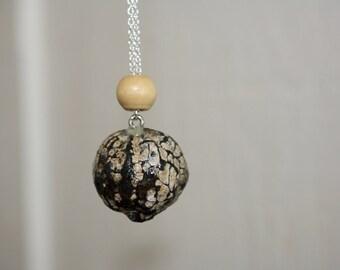Weathered Kukui Nut Necklace