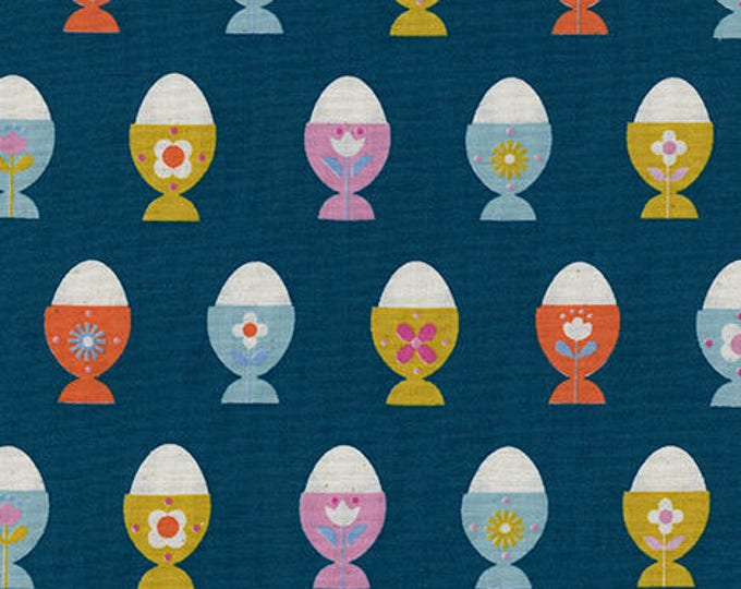 Pre-Sale- Egg Cups in Navy -Welsummer -Kim Kight for Cotton + Steel