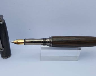 Irish bog oak fountain pens