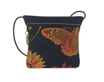 Butterfly 2 Pocket Cross Body Bag