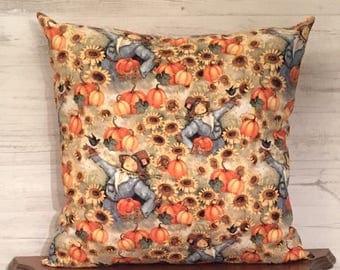Scarecrow Pillow - Pumpkin Pillow - Fall Decor - Autumn Pillow - Scarecrow Decor - Autumn Decor - Fall Pillow - Thanksgiving Throw Pillow