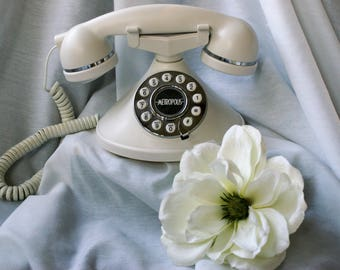 Copy of Vintage Phone/Metropolis/Conairphone /White with Silver Trim