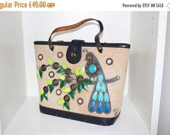 ON SALE Vintage 50s 1950s original Enid Collins Money Tree novelty handbag