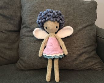 Lilac the Fairy Girl Doll Stuffed Toy (Made to Order)