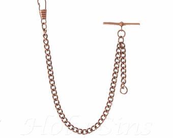 Single Albert Copper Colour Pocket Watch Fob Chain