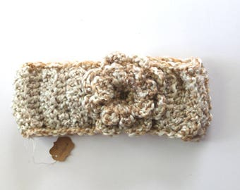 Crochet headband with Flower-Med