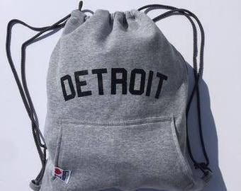 Detroit Fleece Drawstring Bag