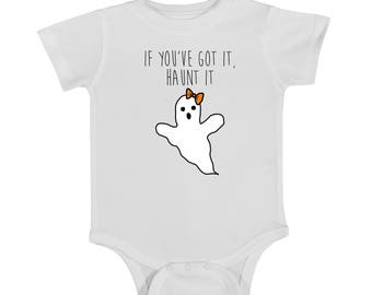 HALLOWEEN onesie, GHOST, got it haunt it,  funny onesie, baby onesie, newborn onesie, halloween baby, newborn onesie, halloween newborn