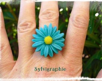 Green Daisy ring