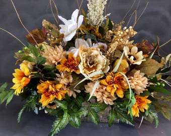 Floral Farmhouse Centerpiece, Tuscan Floral Arrangement, Rustic  Floral Arrangement, Centerpiece, Rustic Centerpiece, Tuscan Centerpiece