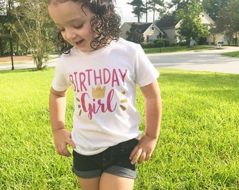 Girls birthday Shirt, Birthday Shirt, Princess birthday Shirt, Toddler Girl, Baby Girl, Birthday Shirt, youth size birthday shirt