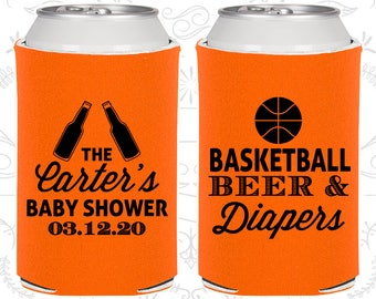Basketball koozie etsy basketball beer and diapers custom baby shower ideas basketball baby shower new baby negle Choice Image