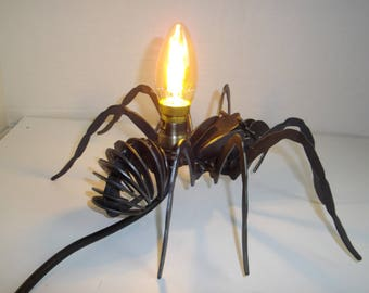 Spider lamp, desk lamp, light, steampunk lamp, Gothic lamp