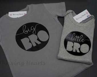 Big Bro/Little Bro shirts. Big brother, little brother shirts. New brother! New Sibling!