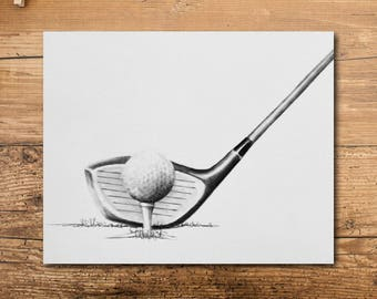 Golf Art - Golf Artwork - Golf Art Print - Golf Decor - Golf Print - Golf Wall Art