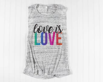 Resist Shirt/ Love is Love Shirt/ Gay Pride Tank Top/ National Pride March/ LGBT Shirt/ Muscle Tank/ Muscle Shirt/ Equality/ Womens Tank top