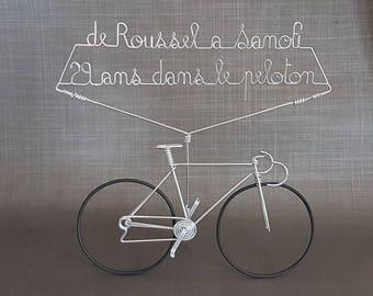 Handmade bicycle racing in aluminum wire