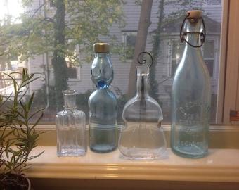Vintage/Antique Bottles - set of 4