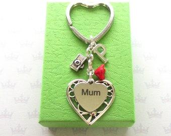 Personalised mum keyring - Birthday gift for mum - Mother's Day gift - Camera keyring - Photographer gift - Camera keychain - Etsy UK