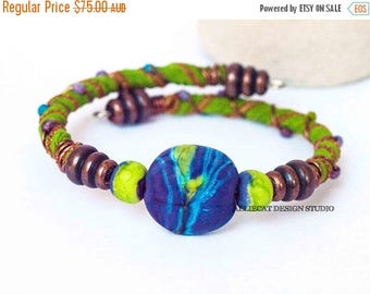 1000 SALES Bohemian Wrap Bracelet, Boho Wrap Bracelet,Bespoke Gypsy Lime Purple Single Wrap Cuff Bracelet NEW