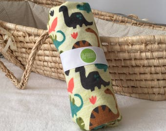 Dinosaur baby gift, newborn baby swaddle, XL baby swaddle wrap, Dinosaur swaddle blanket, XL baby swaddle, baby blanket, swaddle wrap
