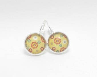 Earrings sleepers style floral, several designs to choose from