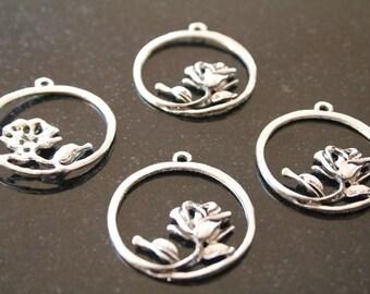 10 metal pendants. (ref:0899).