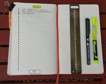 Bullet Journal Planner Ruler. Stencil