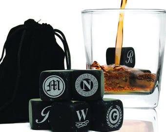 Personalized Whiskey Stones, Whiskey Gifts, Ice Cube, Bourbon Stones, Scotch Gifts, Whiskey Stones Gift, Groomsmen Gift Set, Set of 9
