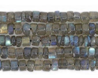 "0317 4mm Labradorite heishi loose bead 14"""