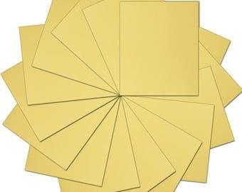 """Pre-cut Sheets Solid Color Heat Transfer Vinyl - Gold - 15 sheets -10""""x12"""""""