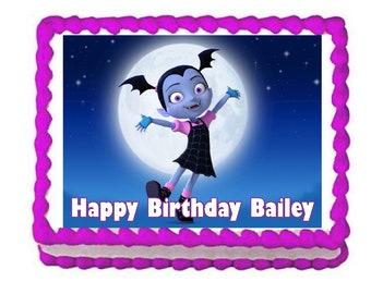 Vampirina party decoration edible cake image cake topper frosting sheet
