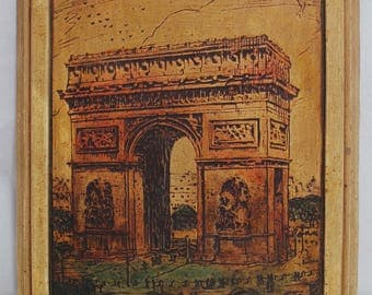 Vintage Arc de Triomphe Paris Plaq-Etching by Buckbee Brehm Co. - 1929