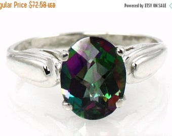 On Sale, 20% Off, Mystic Fire Topaz, 925 Sterling Silver Ring, SR058