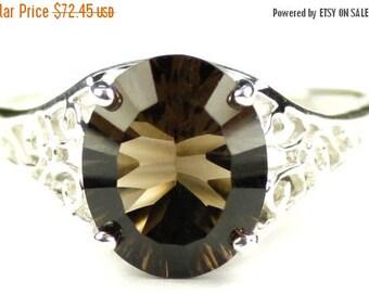 On Sale, 30% Off, Smoky Quartz, 925 Sterling Silver Ladies Ring, SR057